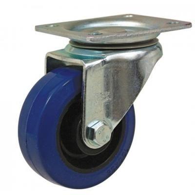 """גלגל כחול 3"""" פלטה  מסתובב"""