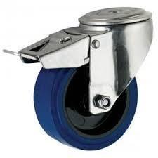 """גלגל כחול 4"""" חור מעצור"""