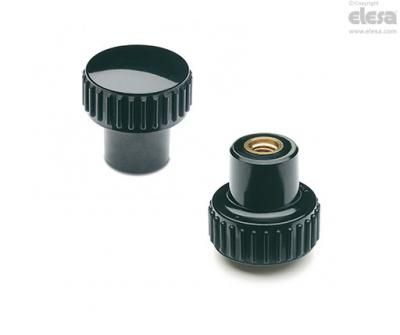 B 259 B Knob with brass boss, threaded blind hole